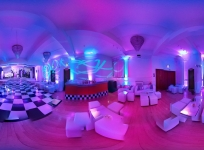 Panoramic view of Bat Mitzvah set up